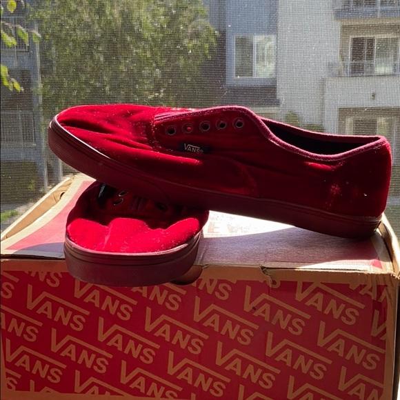Vans Shoes   Red Velvet Vans   Poshmark
